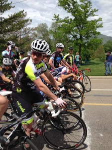 Jeff Kloppenburg at the start line at the Sugarhouse Crit